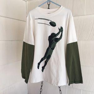 Boys size 8 Gymboree football long sleeve T-shirt